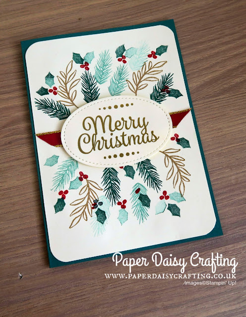 Peaceful Noel Christmas Card by Stampin' Up!