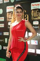 Meenakshi Dixit in Red One Shoulder Red Zipped up gown at IIFA Utsavam Award 77.JPG