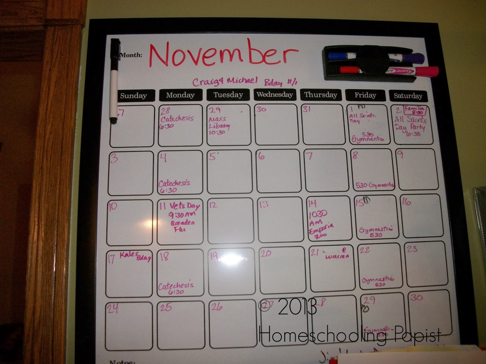 Homeschooling papist our magnetic dry erase planning calendar and i put the main big dry erase calendar in our kitchen there were other smaller planning boards included a rectangular chalk board a larger rectangular dry solutioingenieria Image collections