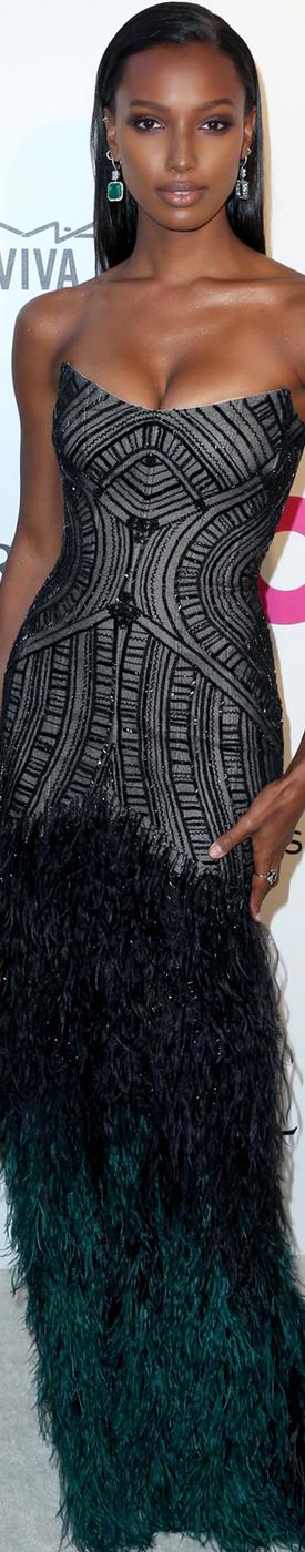 Jasmine Tookes 2018 Elton John AIDS Foundation Oscar Party