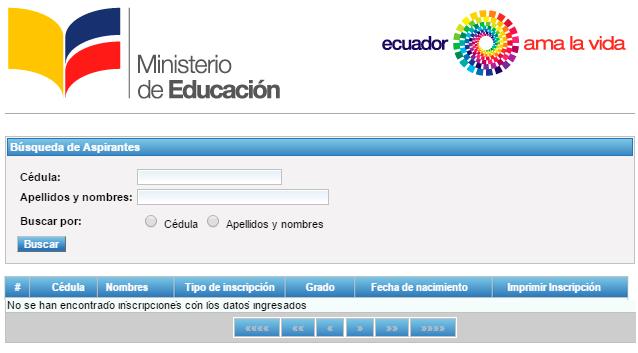 Consultar Certificado de Inscripción Ministerio de Educación 2017 Sierra Costa Amazonia