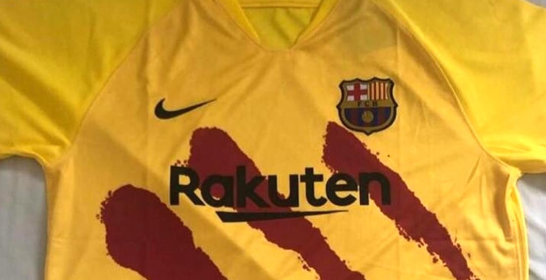 online store c6fc7 19880 LEAKED: FC Barcelona 19-20 Senyera Fourth Kit - Footy Headlines