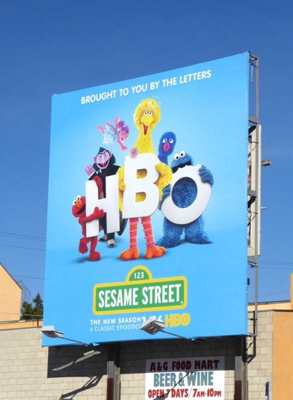 Sesame Street HBO season 46 billboard