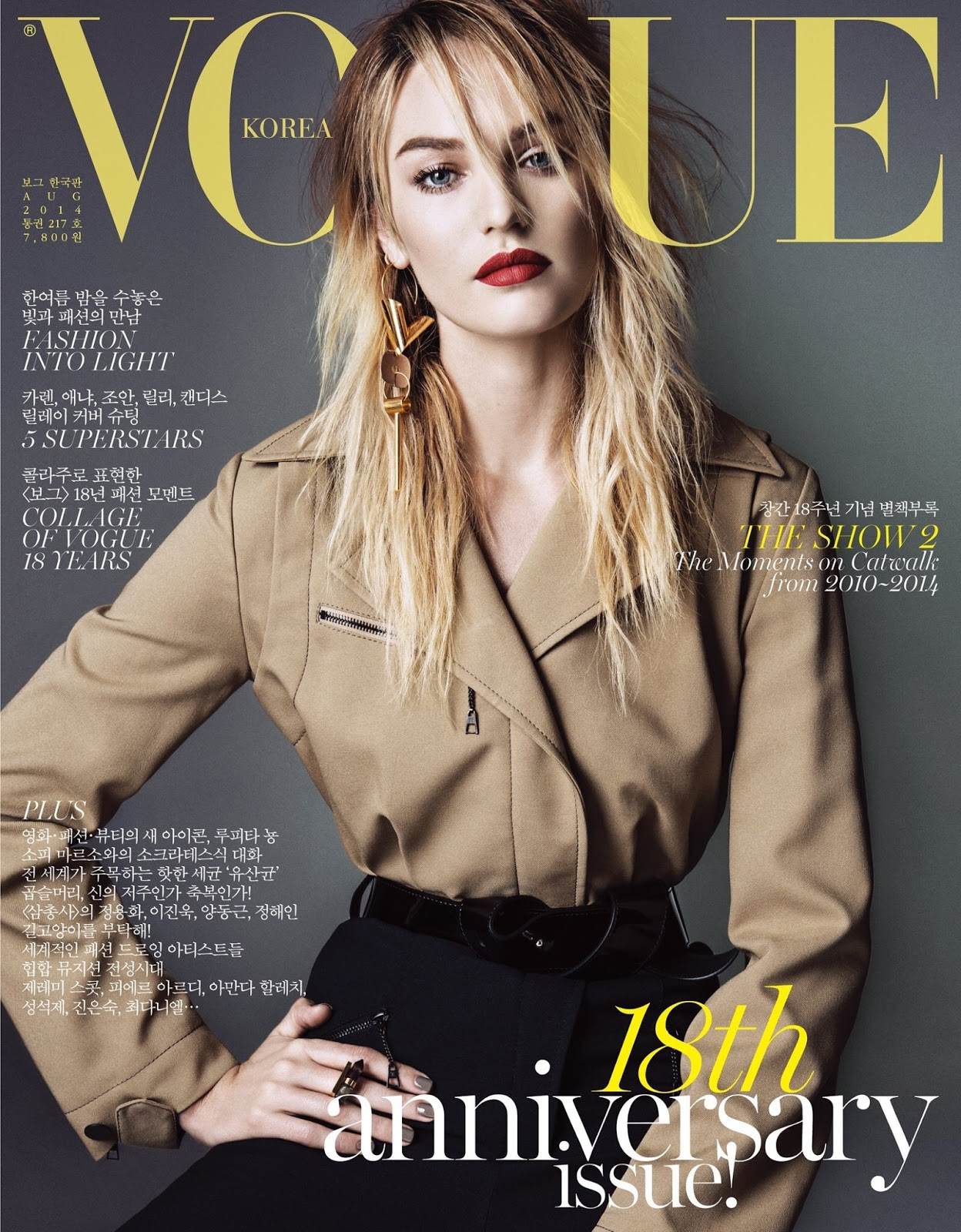 Vogue S Covers Gigi Hadid: Vogue's Covers: Candice Swanepoel