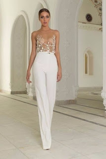 K'Mich Weddings - wedding planning - wedding dress ideas - pantsuit with sheer top