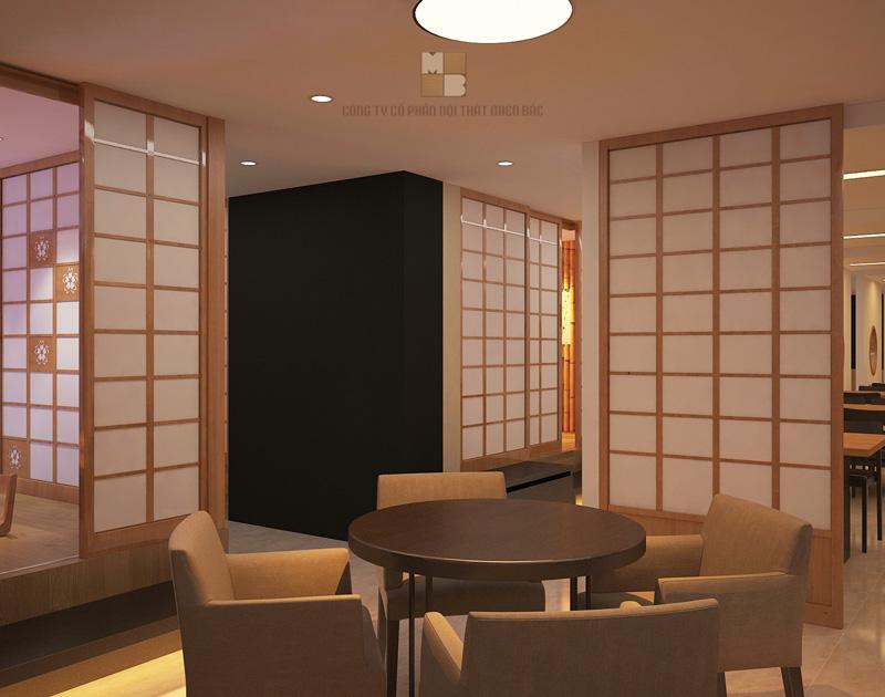 Thiết kế nhà hàng Nhật phong cách xưa cũ