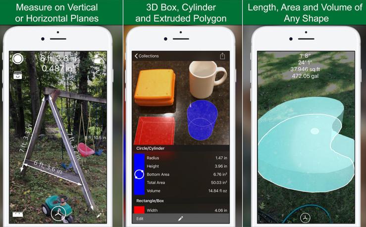 iPhone AR 測量長度/面積/體積計 - 測量 3D Pro