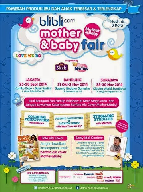 Brosur Lomba Anak Mother and Baby Love We Do
