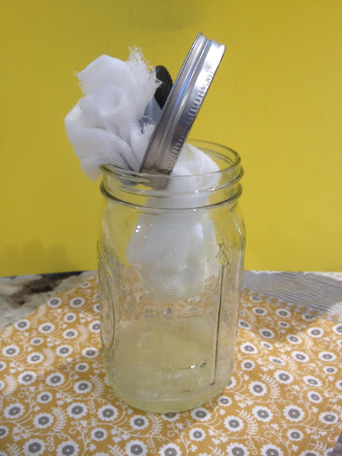 Mason Jar with whey