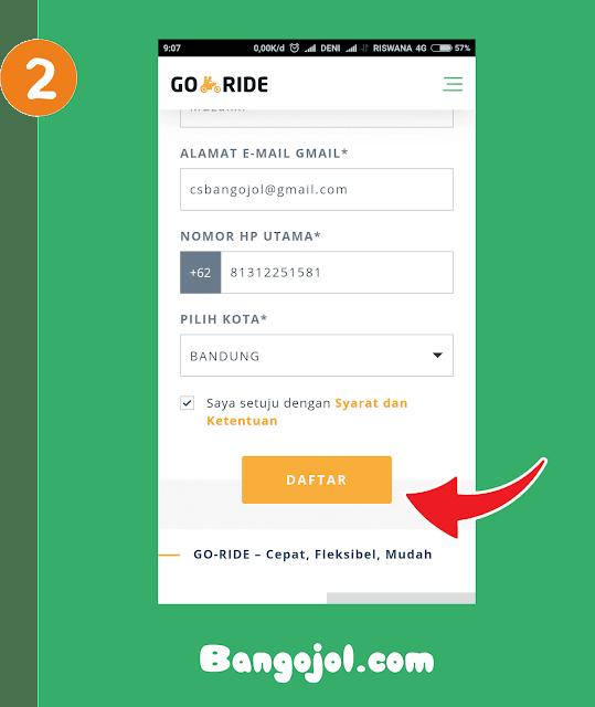 Cara Daftar Driver Gojek Secara Online Update 2018 - Bangojol.com