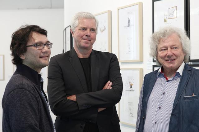Die Zeichner Heiko Sakurai, Thomas Plaßmann und Waldemar Mandzel (v.l.)