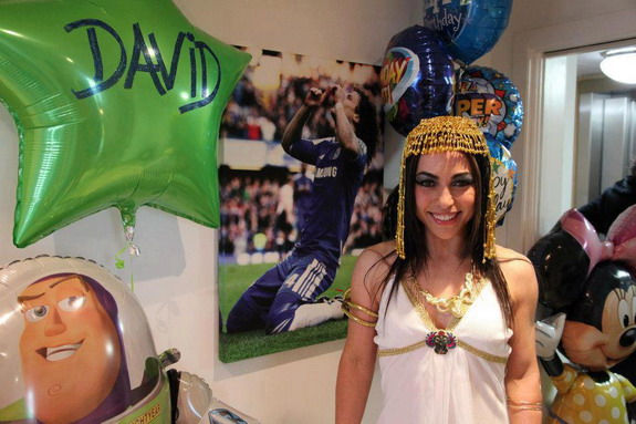 Chelsea physio Eva Carneiro dresses up as Cleopatra