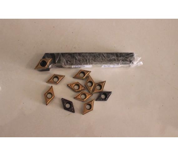 Paket Holder Sdujcr 1212-11 + Insert Dcmt 11 T3 | Holder Bubut Widia