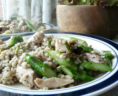 Chicken Mushroom and Asparagus Orzotto
