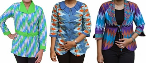 10 Model Baju Batik Atasan Untuk Wanita Gemuk 2017