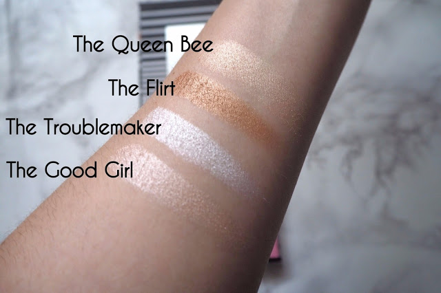 swatches of highlighter
