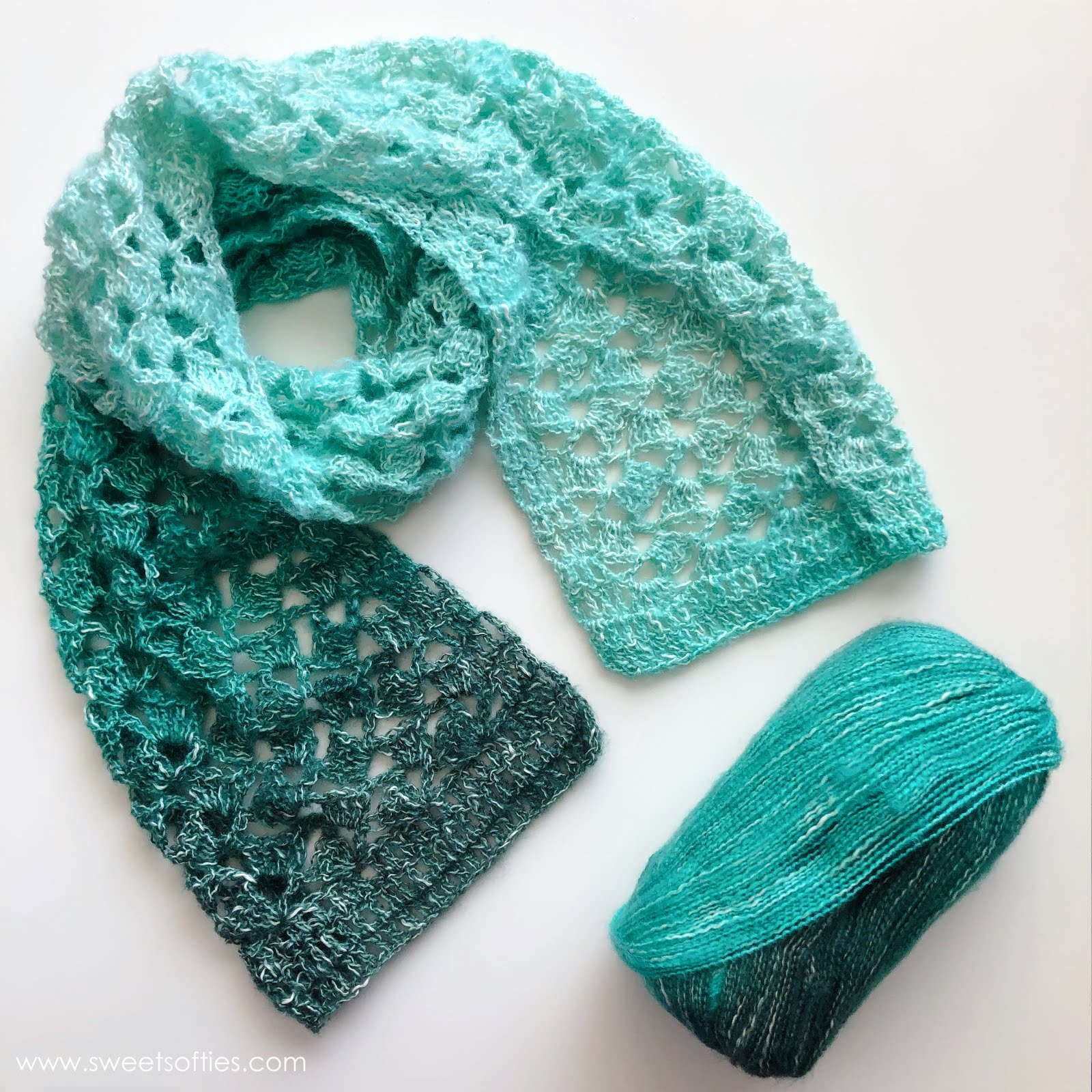 Jade pool scarf free crochet pattern sweet softies for Thread pool design pattern