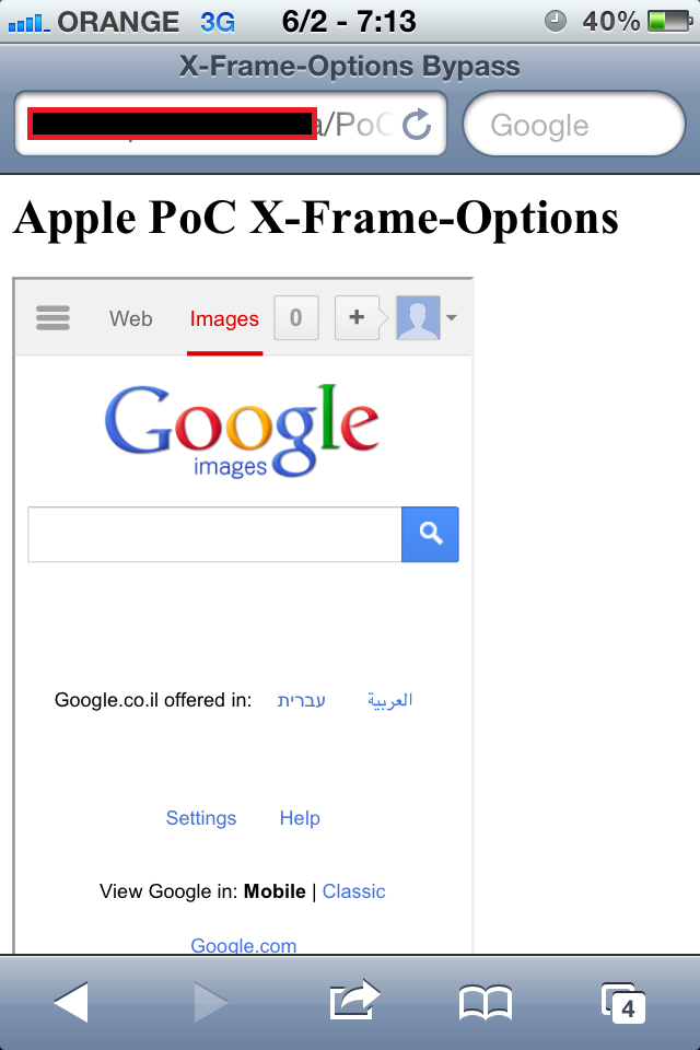 Ben Hayak - Security Blog: X-Framing them all! - Cross-Framing is