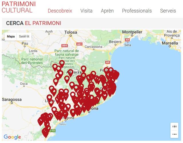 Localització del Patrimoni Cultural català