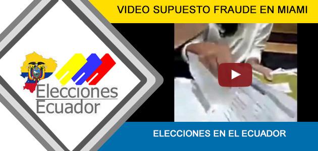 Fraude Elecciones 2017 Ecuador Consul Miami Supuesto Hoy 2 de abril Segunda Vuelta CNE desmentido