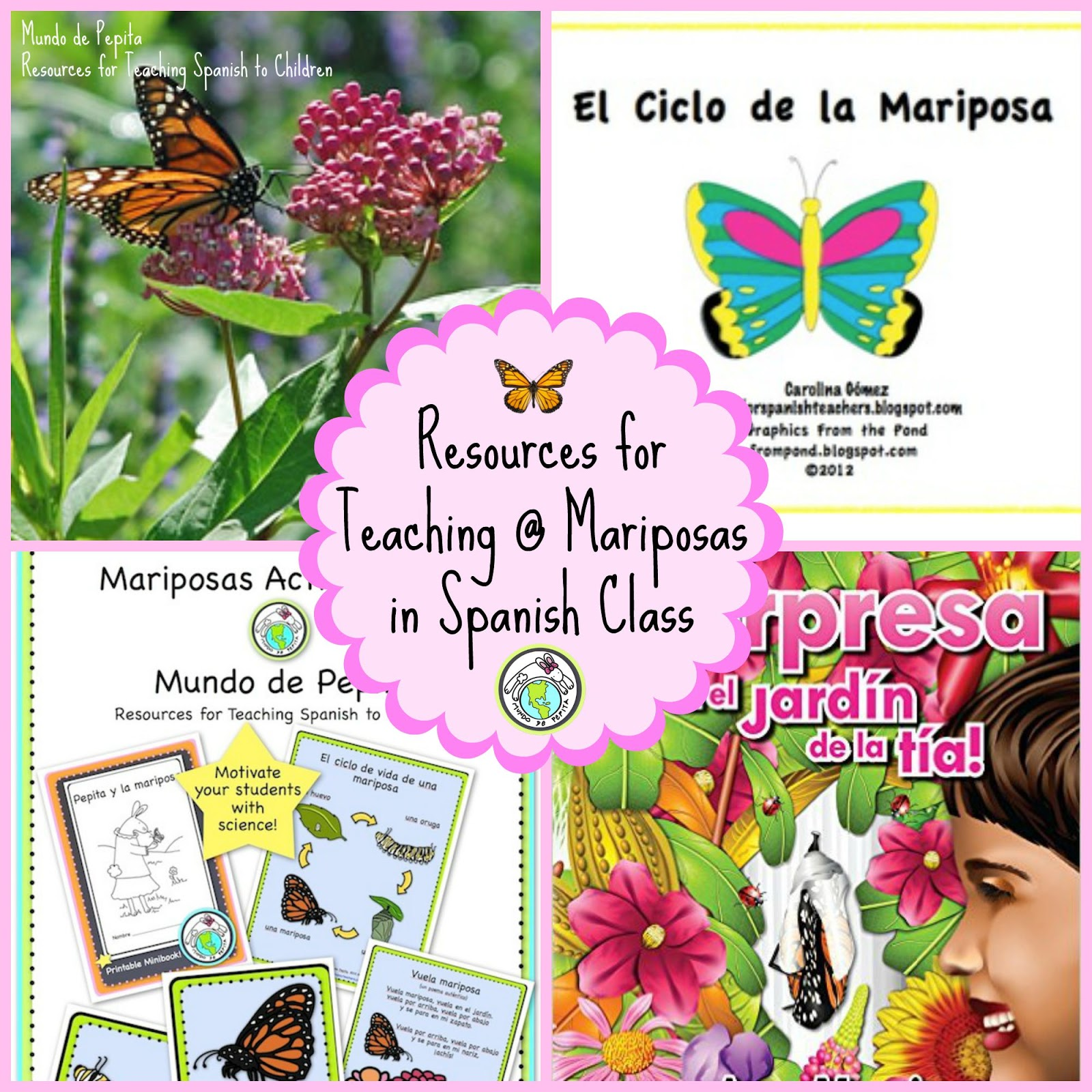Mundo De Pepita Resources For Teaching About Mariposas In Your Spanish Classroom