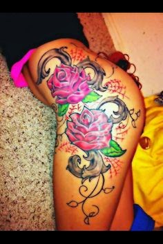 Rose And Guns Thigh Tattoos Fashions Feel Tips And Body Care