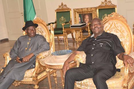 Goodluck Jonathan & Gov. Wike Hold Closed Door Meeting