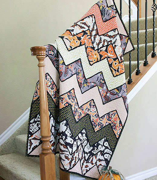 Chenille-Embellished Lap Quilt Free Pattern