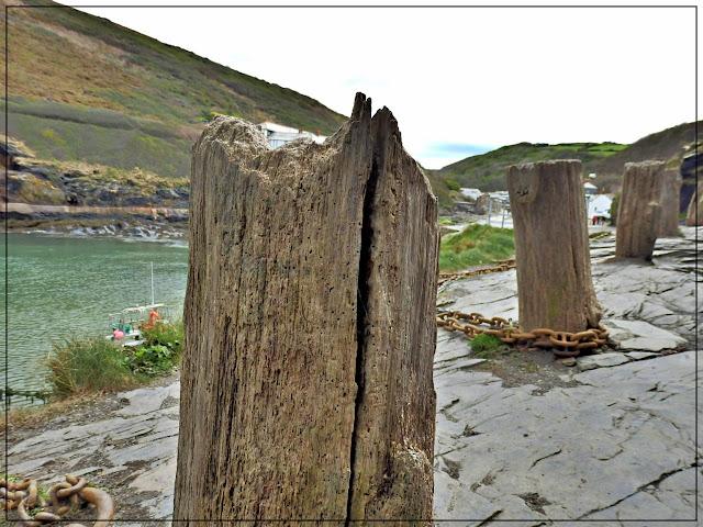 Old wooden boat ties, Boscastle, Cornwall