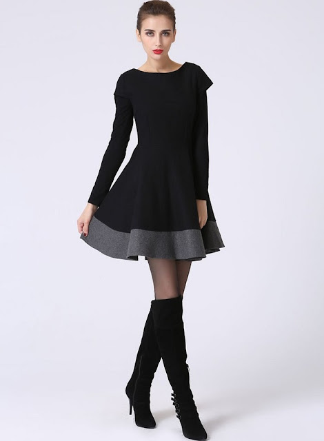 https://shopxiaolizi.com/collections/dress/products/little-black-dress-lbd-short-sleeve-dress-black-and-gray-black-mini-dress-wool-dress-color-block-wool-clothes-1069