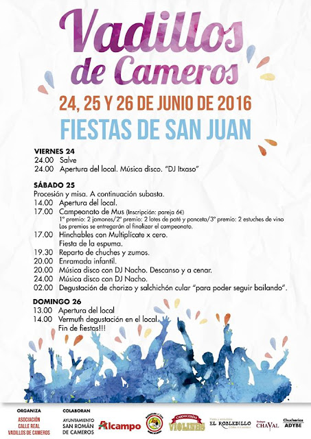- 24 a 26 de Junio - - Vadillos de Cameros - - Fiestas de S. Juan Bautista -