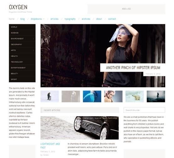 Oxygen theme