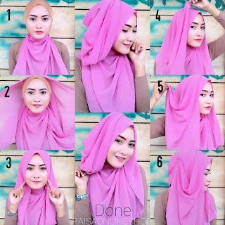 15+ Tutorial Hijab Pashmina Terbaru Mudah, Simple, Modern