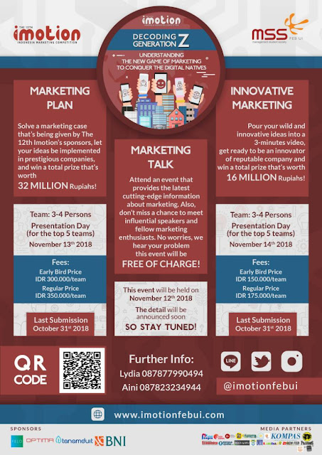 Indonesia Marketing Competition 2018