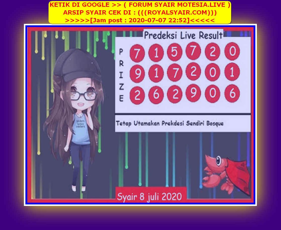 Kode syair Singapore Rabu 8 Juli 2020 242