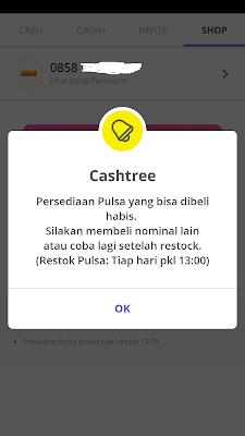 Pulsa Cashtree Habis