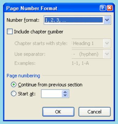 cara memberi halaman pada word