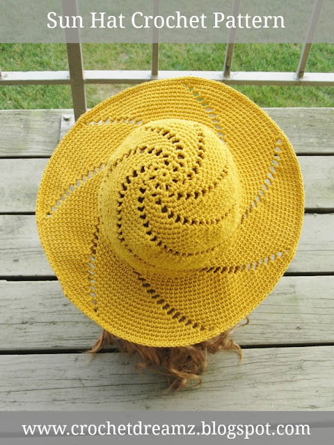 Crochet Pattern for Woman's Sun Hat