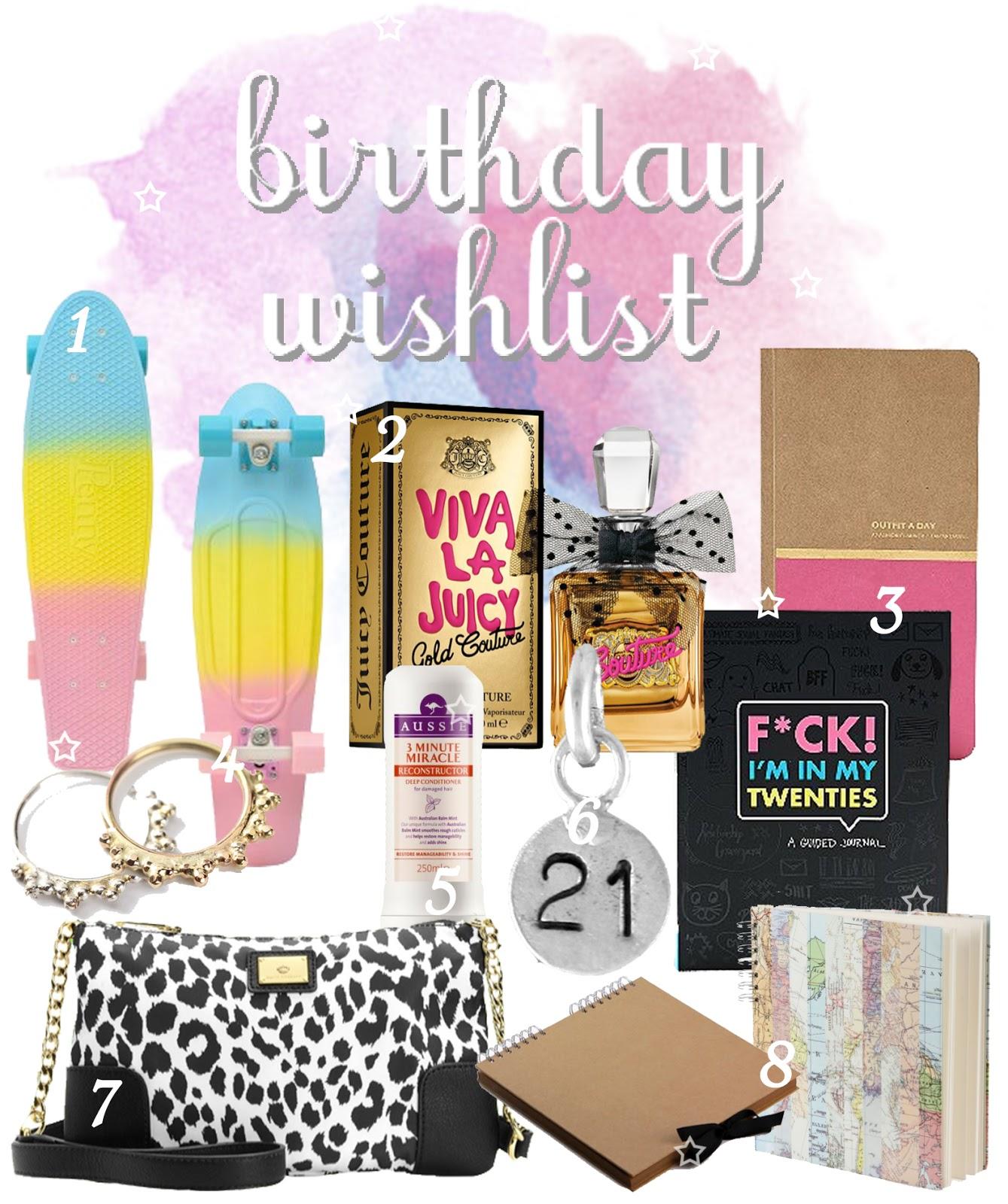 21st Birthday Gift Wish List