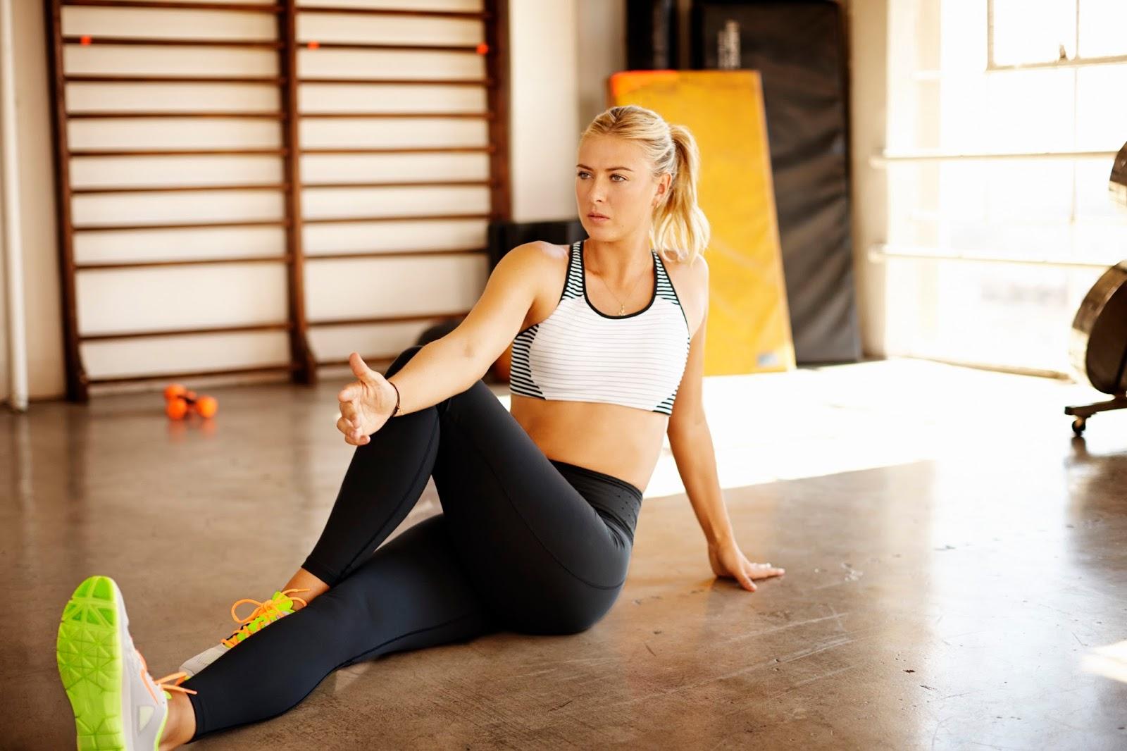 Maria sharapova hot training session