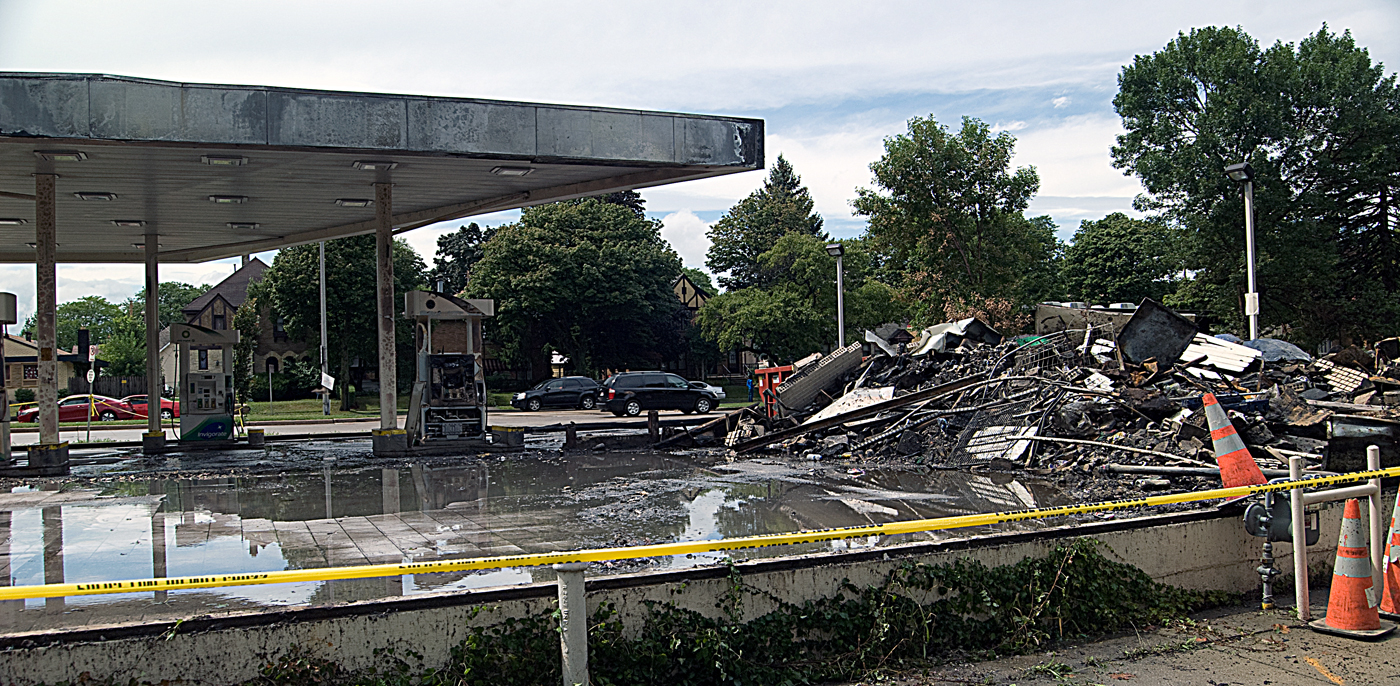 Gregory stanford the remains of a gas station torched during civil unrest in milwaukee aiddatafo Image collections