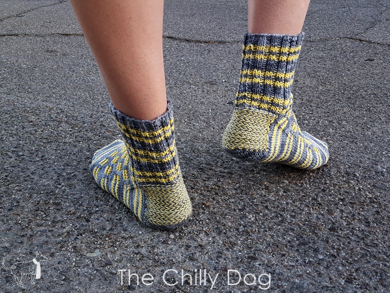 Knitting Video Tutorial Twined Colorwork Heel Flap The Chilly Dog
