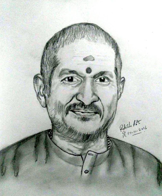 PENCIL DRAWING - ILLAYARAJA