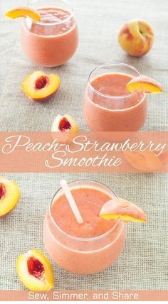Peach-Strawberry Smoothie