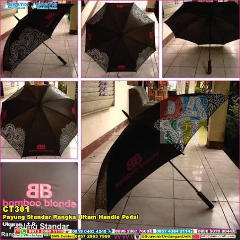 Payung Standar Rangka Hitam Handle Pedal