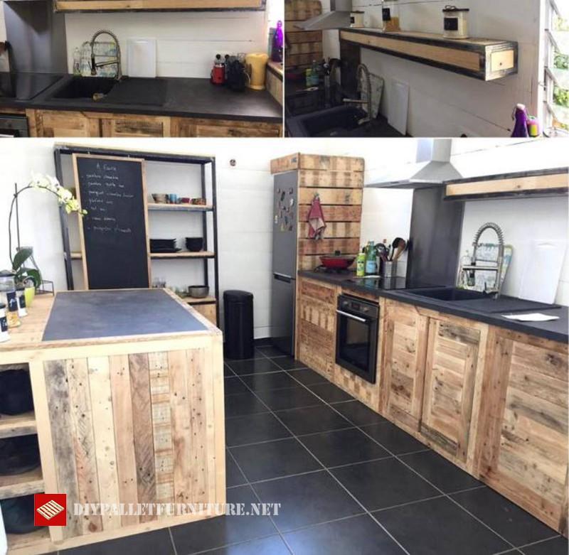 Idea de cocina decorada con palets for Paletas de cocina decoradas