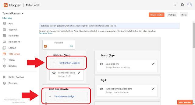 Cara Menambah dan Memasang Widget Di Blog