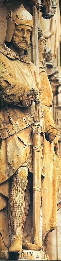 Jean II, cavaleiro  fachada do Hôtel de Ville de Bruxelas