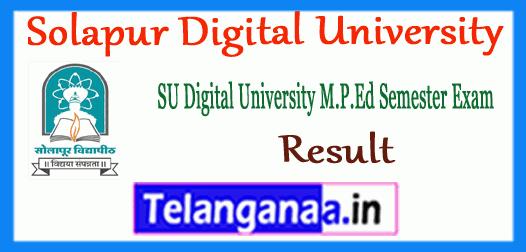 Solapur Digital University B.P.Ed M.P.Ed Result