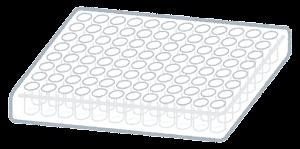 細胞培養プレートのイラスト(96ウェル)